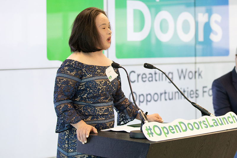 """""""My goal in life is to show the world what people with Down Syndrome can do.""""  – Mei Lin Yap's Story"""